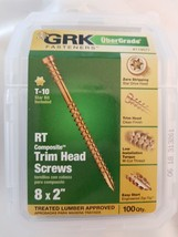 "GRK Fasteners RT Composite Trim Head Screws #8 x 2"" - 119077 image 1"