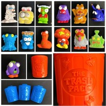 Vintage Trashies Lot Moose Toys 17 piece Mixed Lot Mini Rubber Monsters - $24.99