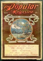 Popular Pulp Magazine November 7 1919- Secret City- Roy Norton - $63.05