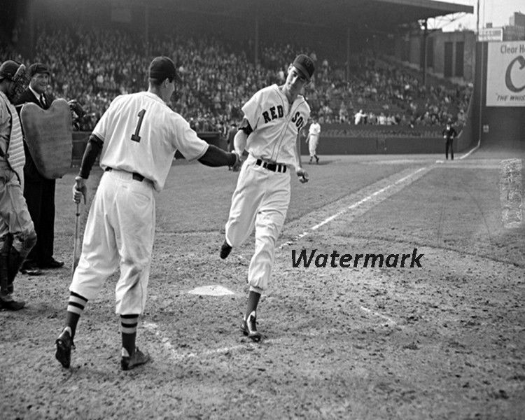 MLB 1950's Boston Red Sox Ted Williams & Bobby Doerr 8 X 10 Photo Pic Free Ship