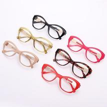 Vintage Cat Eye Glasses Frames Women Men Luxury Brand Fashion Optical Clear Lens image 5