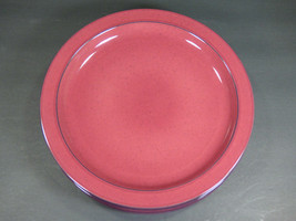 "SET OF 5 - MIKASA CHROMATIC BURGUNDY 11-1/8"" DINNER PLATES - EXCELLENT USED - $58.80"