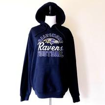NWT New NFL Baltimore Ravens Hoodie Sweatshirt Black Purple Medium - $44.99