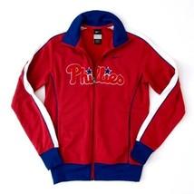 Nike Men's Sz Medium MLB Philadelphia Phillies Red White Blue Zip Up Jacket - $46.75