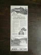 Vintage 1929 John Deere Manure Spreader Farm Tractor Original Ad - $6.64