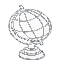 (silver)Globe Pattern Metal Cutting Dies Stencil for Scrapbooking Photo ... - $14.00