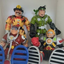 Rescue Heroes Mattel Fisher Price Action Figures LOT Medic Fireman Army  - $39.30