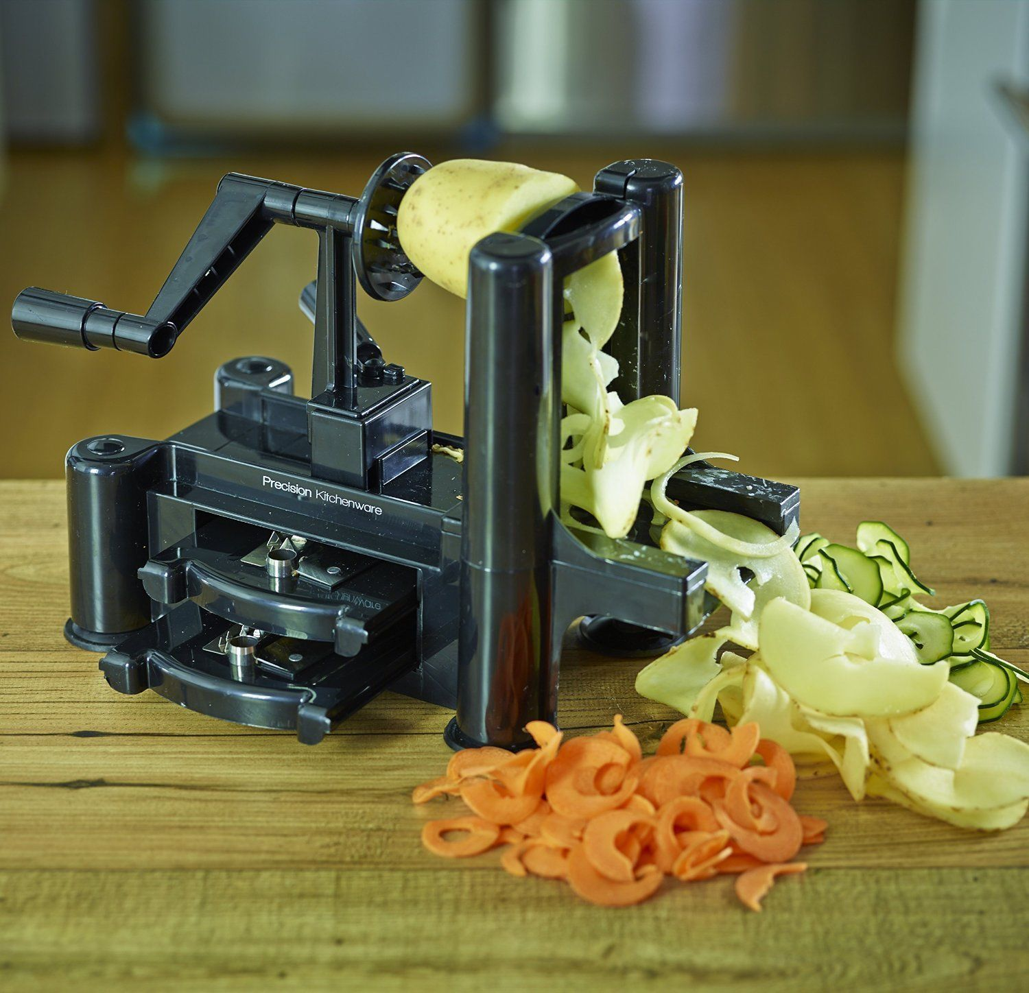 Vegetable and Fruit Cuter, Spiral Slicer, Spiralizer w/ 3-Blade and free Recipes
