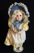 "Jan Hagara ""Tina""  Doll  14"" Porcelain LNC in original box - $46.36"