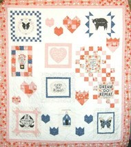 Words To Live By Panel Quilt Kit Gingiber Pastry Shop Quilts Inspirational - $82.12