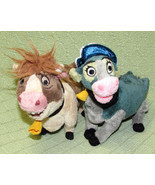 "Applause Home On The Range MAGGIE + MRS. CALOWAY Disney Plush Stuffed Cows 7""  - $20.56"