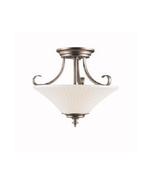Kichler KK42155BPT Abbeyville Semi Flush Three Light with Brushed Pewter... - $136.57