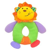 Lion Circle Toddler Shaking Plush Toys Cute Baby Stuffed Animals Infant Toys