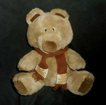 "11"" Vintage Dakin 1985 Brown Teddy Bear W/ Scarf Stuffed Animal Plush Toy Lovey - $23.38"