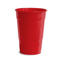 16 oz Solid Plastic Cups Classic Red/Case of 240 - $64.35
