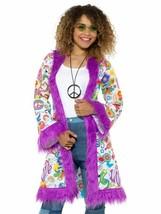 60s Groovy Hippie Coat, 1960's Groovy Fancy Dress, XL #CA - $46.12