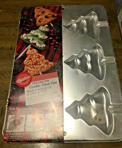 1998 Wilton Christmas Tree Lollipop Cookie /Pumpkin  Cake Pop Pan Lot of 2  - $19.75