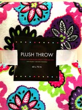 Flower Power Plush Throw Blanket 60 x 70 inches Soft Non-Pilling Floral - €23,50 EUR
