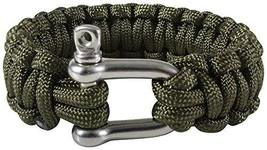 Rothco Paracord Bracelet with D-Shackle, Olive Drab, 7'' - $7.93