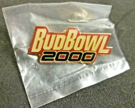 Vintage Bud Bowl 2000 Lapel Trading Pin Budweiser Anheuser New Old Stock - $11.99