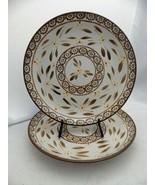 Temp-Tations by Tara - Old World Brown - set/lot of 2 Dinner plates 10 1... - $16.83