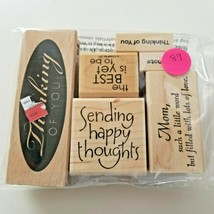 Stampabilities Sending Happy Thoughts Stamp Set, EUC 6 Stamps - $11.26