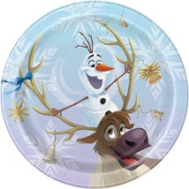 Disney Frozen Olaf Dessert Cake Plates Birthday Party Supplies 10 Ct - $4.54