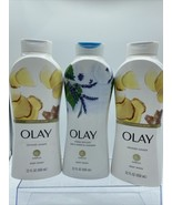 (3) Olay Crushed Ginger Birch Lavender Complex Hydrating Glow Body Wash ... - $23.99