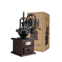 Antique Vintage Manual Coffee Grinder With Ceramic Movement Retro Wooden... - $49.34