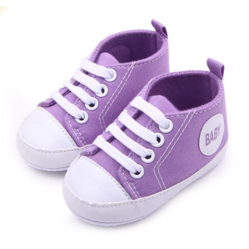 0-12M Newborn Toddler Canvas Sneakers Baby Boy Girl Soft Sole Crib Shoes