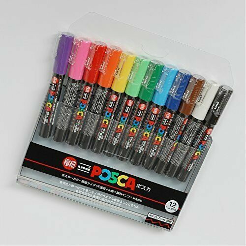 Mitsubishi Pencil Co., Ltd. aqueous pen Posuka superfine 12-color PC-1M.12C