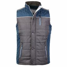 Holstark Men's Zip Up Multi Pocket Insulated Fleece Lined Two Tone Athletic Vest image 15