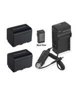 2 Batteries + Charger for Sony DCRSR42 DCRSR45 DCRSR46 DCRSR47 DCRSR50 D... - $53.05