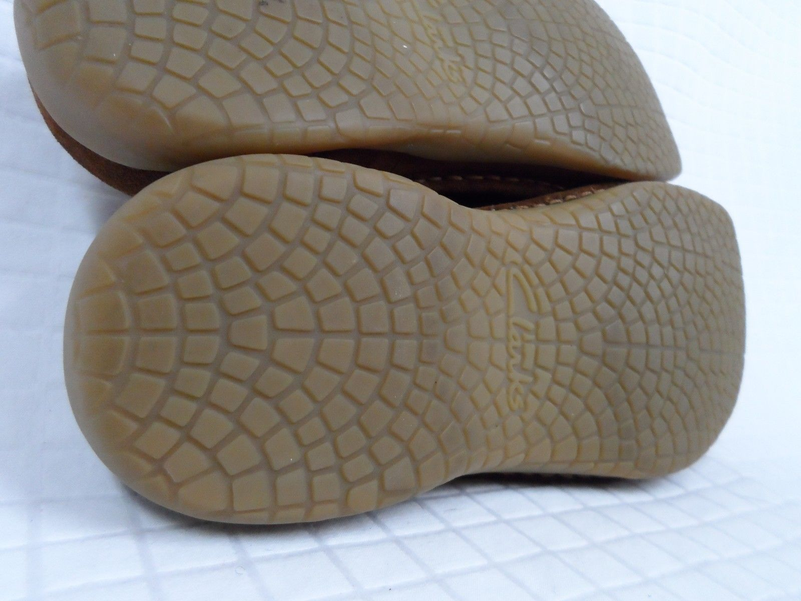 VGUC Women's CLARKS Slip On Brown Suede Leather 7.5 Mules