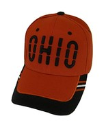 Ohio Window Shade Font Men's Adjustable Baseball Cap (Red/Black) - $12.95