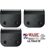 3-WAHL ULTIMATE COMPETITION 40 BLADE Pet Grooming Fit Most Oster,Andis C... - $89.24
