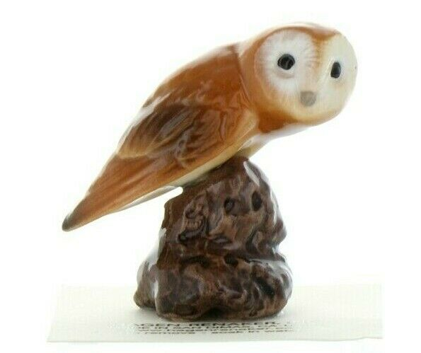 Hagen Renaker Bird Owl on Stump Ceramic Figurine a
