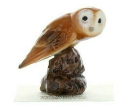 Hagen Renaker Bird Owl on Stump Ceramic Figurine a image 1