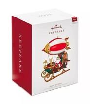 HALLMARK 2018 FLIGHT OF FANCY Power Cord Ornament NEW Santa In Blimp SHI... - $49.99