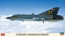 Hasegawa 1/72 Swedish Air Force J35 DRAKEN SCANDINAVIAN DRAKEN Model Kit... - $29.81