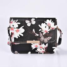 Women Floral Shoulder Bag Small Messenger Bag Retro Butterfly Clutch Tote Purse image 3