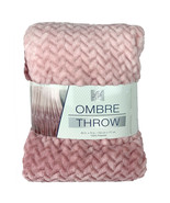 NEW Life Comfort Velvety Ultra Soft Ombre Throw Warm textured Blanket 60... - $49.99