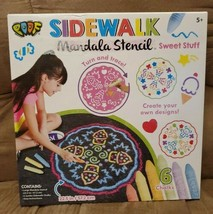 SIDEWALK Mandala Stencil sweet stuff 6chalks Create your own design!! New - $14.85