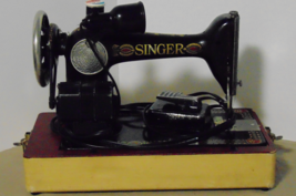Antique Singer Sewing Machine with Light and Case Tested and Working - $110.00