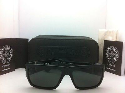 f1e3c95e2f1 Authentic CHROME HEARTS Sunglasses BJORN AGAIN Black Silver w