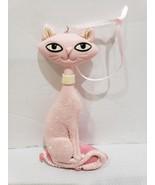 "Christmas Holiday Pink Glitter Kitty Cat Ornament Decor 5.25"" - $13.99"