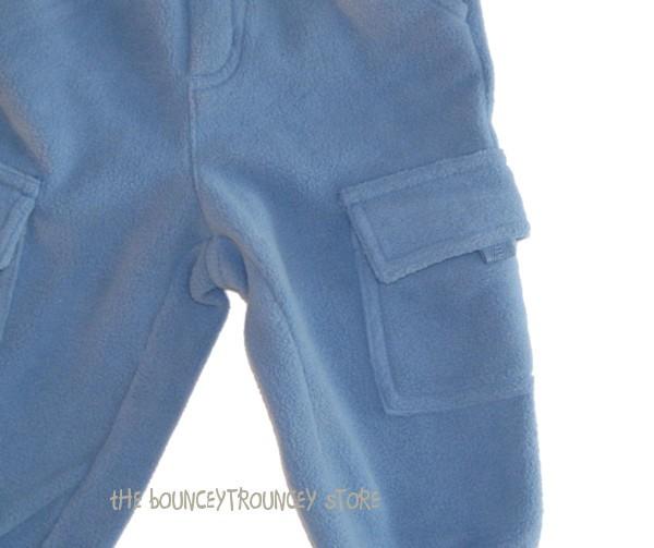 NWT Gymboree LITTLE CONDUCTOR Fleece Cargo Pants 6 9 12