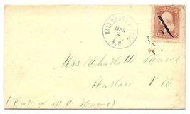 1869 Hillsborough Bridge NH Discontinued/Defunct (DPO) Post Office Posta... - $9.95
