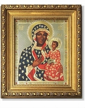 Our Lady of Czestochowa Gold-Framed Icon with Crystals - $102.95