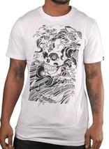 Etnies Bianco Uomo Dokuro Giappone Tsunami Toshikazu Nozaka T-Shirt Nwt